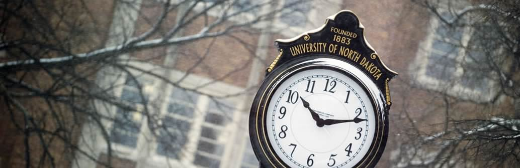 University of North Dakota Clock