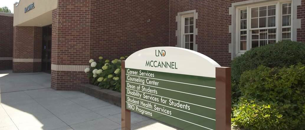 Sign outside McCannel Hall