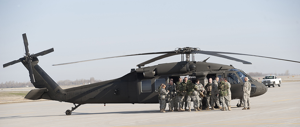 UND ROTC helicopters
