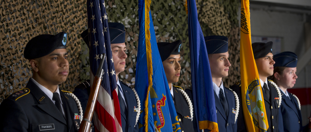 Joint UND ROTC color guard