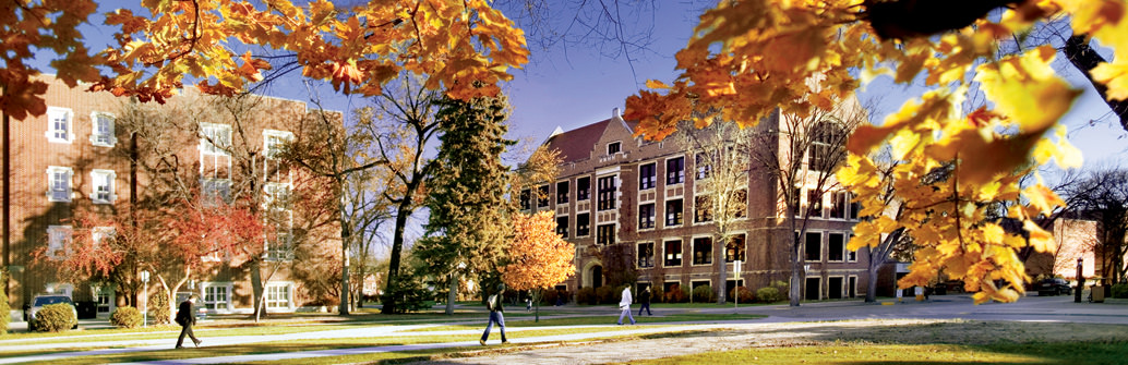 UND campus in the fall