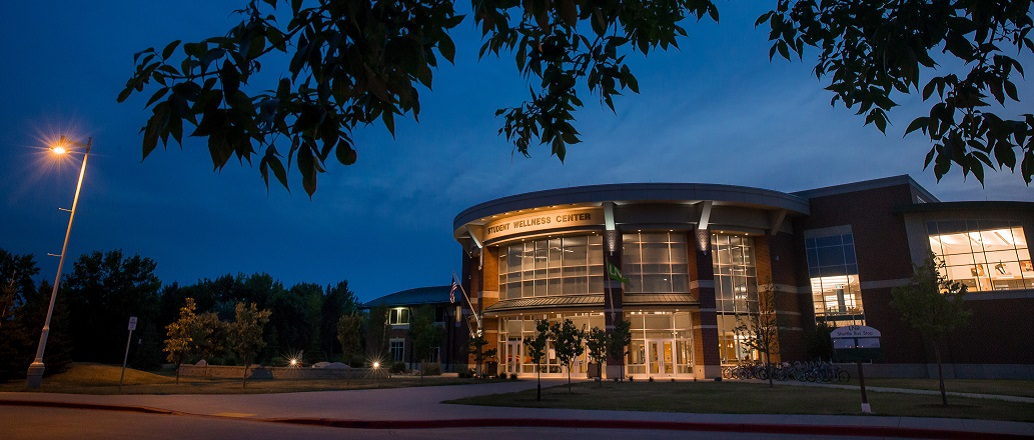 UND Wellness Center at Night