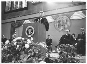 John F. Kennedy speaking at UND