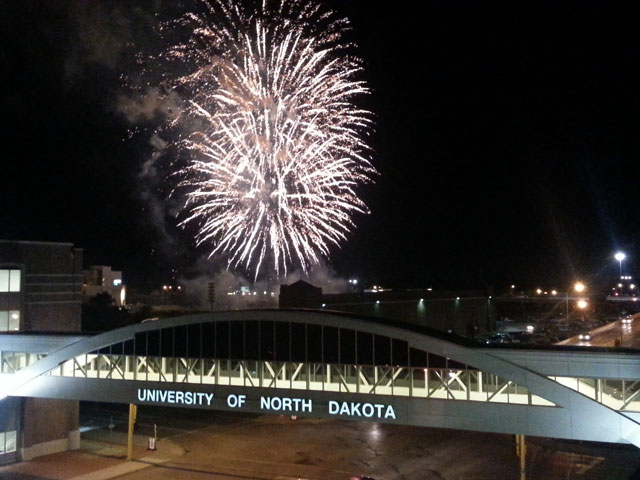 An experience of a lifetime watching fireworks over Memorial Stadium.