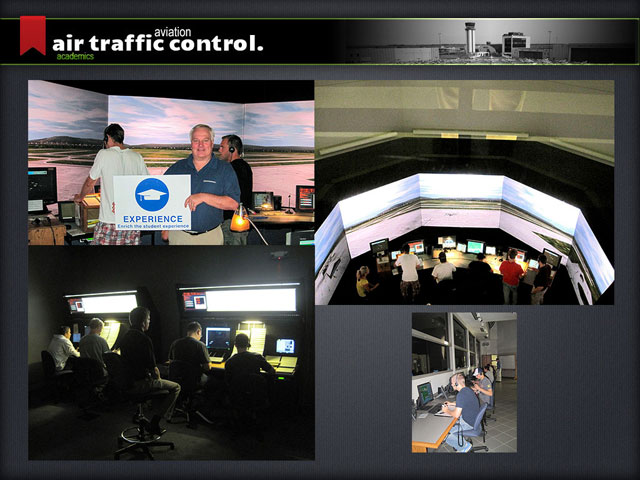 Air Traffic Control students gain valuable hands-on experience.